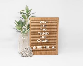 Wooden Letter Board 9x12 - Oak -  Letterboard, Message Board, Felt Board, Modern Farmhouse, Modern Cabin, Natural, Organic, Handcrafted