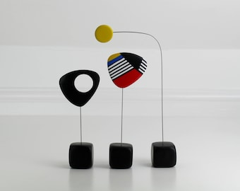 Abstract Mid Century, Modern Home, Sculpture Art, Modern Retro Sculpture, Calder Style, Retro Modern, Home Decor, Modernist, Mid Century