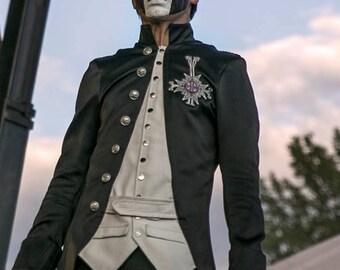 nameless ghoul coat. papa emeritus inspired cosplay costume cross ghost bc robe suit halloween nameless ghoul coat