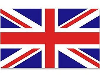 UK British Union Jack Flag Sticker