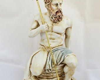 ON SALE Poseidon, Neptune, Posidon God King of the sea, Earth-Shaker sculpture statue