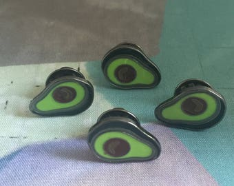 Enamel Avocado Pin