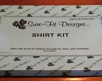 Sure Fit Designs Shirt Kit Master Pattern Back Darts Contour Shirt Women's Shirt Robe Men Women Lounge Pajamas Night Shirt Safari Jacket