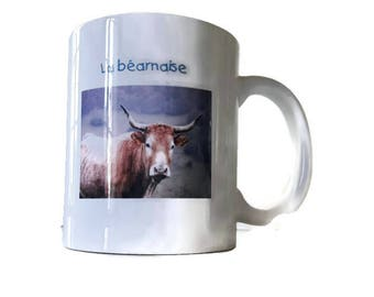 Mug with a photograph of a cow Béarnaise - single model