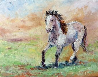 Running Horse in Spring