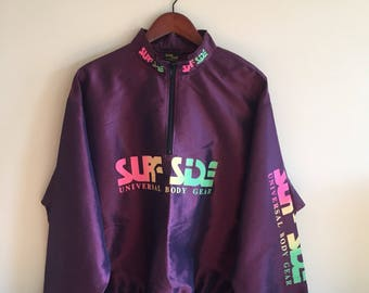 Vintage Windbreaker Surf Side. Brand New Condition. Dead Stock. Neon Windbreaker.