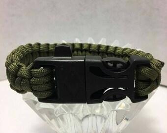 Paracord Bracelet Hunter green