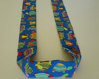 Handmade Cooling Wrap, Cute Colorful Turtles, Neck Cooler, Cold Scarf, Bandana