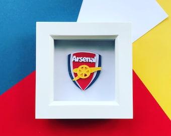 Framed Football Crest Memorabilia - Choose your Team