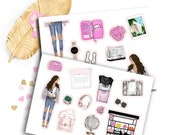 Travel Fashionista, Girlboss Kit sticker for kikki k, filofax, erin condren or Travellers Notebooks