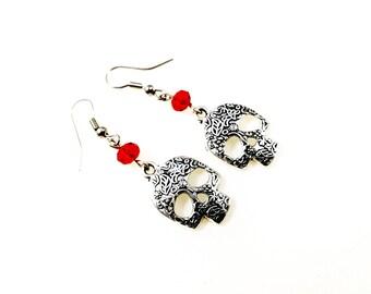 Mexican Skull Earrings For Her Women Jewellery