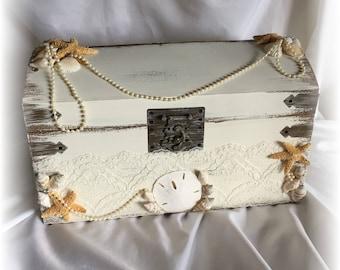 Starfish Wedding Money Gift Card Holder Box Treasure Chest