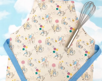 Peter Rabbit cooking apron, childs apron, baking apron, kids apron