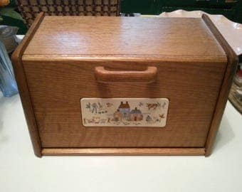 Vintage bread box