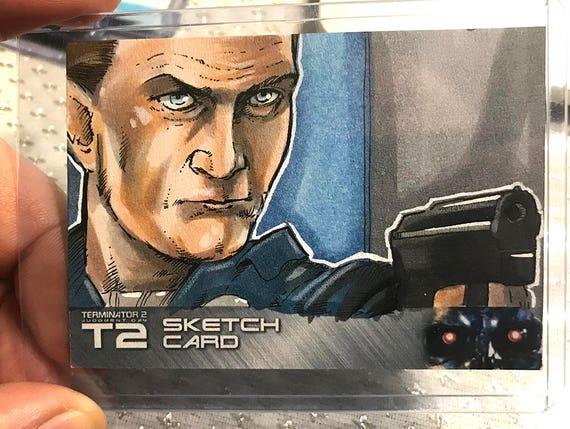 T2: 25th Anniversary Terminator 2 T1000 Artist Sketch Card