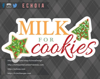 Milk for Cookies - SVG, PNG and DXF files