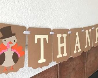 Thankful Banner- Thanksgiving Banner- Thanksgiving decoration- Fall decoration