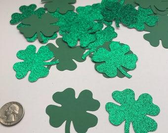 St. Patrick's Day decorations/ Shamrock confetti/ clover cut outs/ St. Patrick's Day Table Decoration/ 25 pcs