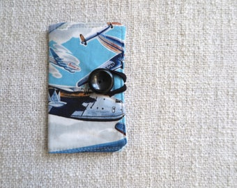 Card wallet, Credit card wallet, Loyalty card wallet, Repurposed fabric wallet, Aircraft card wallet,Airplane card wallet,Travel card wallet