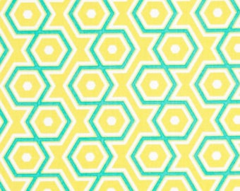 Notting Hill Hexagons in Canary by Joel Dewberry -  cotton quilting fabric by the yard