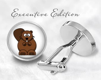 Beaver Cufflinks - Beavers Cuff Links (Pair) Lifetime Guarantee (S1001)
