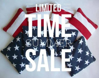 USA cornhole bags USA corn hole bags American patriotic Fourth of July 4th of July