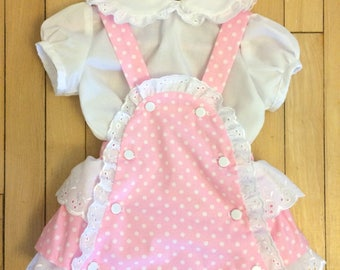 Baby Girls Romper and Blouse Set Hand Made in the UK