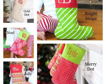 Monogrammed Christmas Stockings, Personalized Stocking, Monogrammed Stocking, Christmas Stocking, Personalized Stockings, Christmas Decor