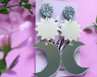 MAGIC MOON / Statement Earrings
