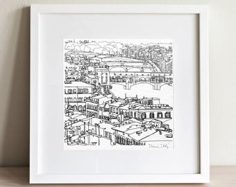 Florence Italy doodle print