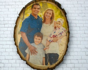 Personalized Tree Round Photo Tree Round Photo Transferred to Wood Personalized Wood Decoration