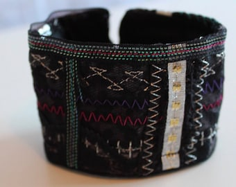 Gorgeous Textile Cuff Bracelet made by Ami James