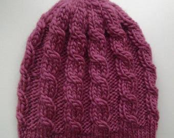 Knit cap braids 56-58-cm. height 21 cm.