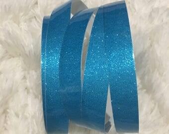 Blue Glitter Polypro Hoop