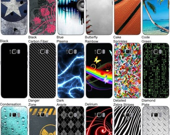 Choose Any 2 Designs - Vinyl Skins / Decals / Stickers for Samsung Galaxy S8+ Plus Android Smartphone - Back Only