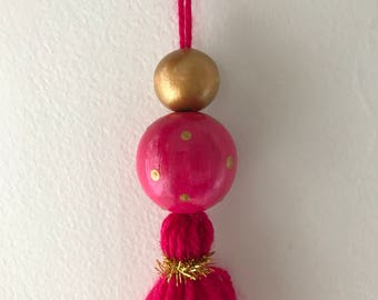 Christmas decoration hot pink & gold