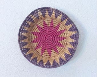 Pink and Purple Woven Bowl