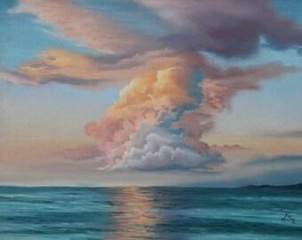 Peinture coucher de soleil etsy - Peinture au pastel sec ...
