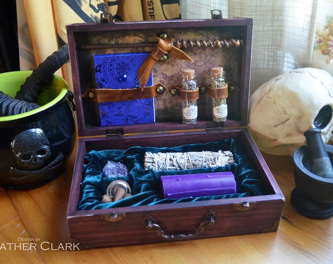 Featured listing image: Fully Stocked Travelling Witch Kit Apothecary & Altar