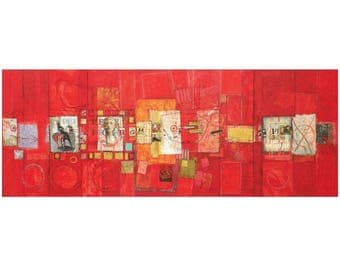 """Large Patrick Archer Abstract Collage, Original Work, 96""""L"""