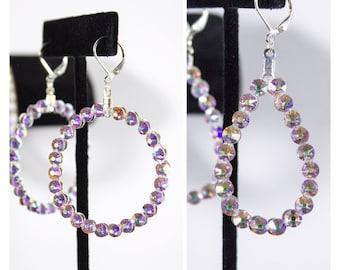 Swarovski / Crystal AB earrings