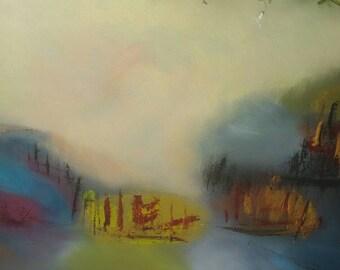 Landscape abstract fantasty oil