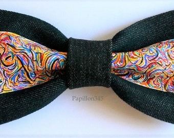 bow tie jeans ,accessories for men fashion,black and white bow, elegant,baby, husband, gifts for him, marriage, newlyweds witnesses, linen