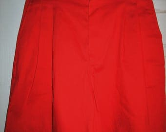 New Vintage Red Bermuda Walking Shorts, Size 12, Polyester & Cotton Blend, by Present Tense, New Vintage  Red Shorts, Women's Summer Shorts