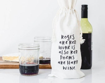 Roses are Red Canvas Wine Bag