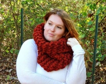Cowl scarf, wool scarves, chunky knit scarf, winter scarf, chunky scarves, basic scarf, simple scarf, scarves for women, women's scarf, cowl