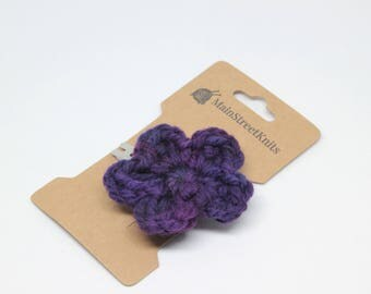 Large Flower Hairpins, Large Flower Hairclips, Children's Hair Accessory, Crocheted Hairclips