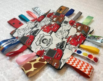 Disney Cars Crinkle Sensory Toy, Tag Toy, Cars Tag Toy, Crinkle Toy, Sensory Toy, Tag Blanket