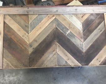 Chevron Reclaimed Pallet headboard