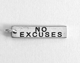 Running Jewelry, NO EXCUSES Running Charm